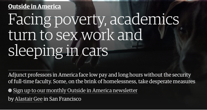 Facing poverty, academics turn to sex work and sleeping in cars
